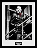 GB Eye Ltd Walking Dead, Negan Treppen Kunstdruck, gerahmt,