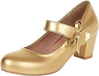 Details about  /Retro Women Cuban Ladies Sweet Mary Janes Pumps Comfort Candy Colors Dress Shoes
