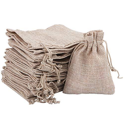 50pz Bolsas de Muselina Bolsas de Algodón Reutilizables con