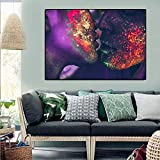 NIMCG Abstract Love Kiss Canvas Painting Coloridos Carteles e Impresiones Art Wall Pictures for Living Room Cuadros Home Decor 70x100cm (Sin Marco)
