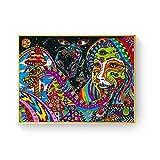 WuChao丶Store Ácido psicodélico LSD Lienzo Arte impresión Pintura póster Cuadros de Pared para la decoración de la Sala de Estar decoración del hogar 50x70 cm W-437
