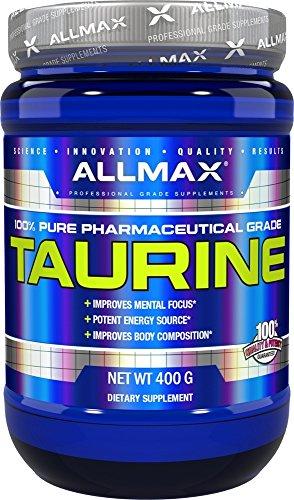 ALLMAX Nutrition Taurine, Vegan + Gluten-Free, Unflavored, 3,000 mg, 14.11 oz (400 g)
