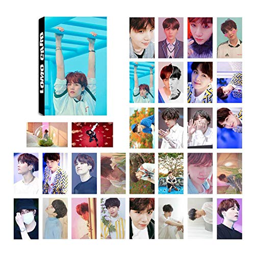 ALTcompluser Bangtan Boys Lomo Photocard/Set Fotocarte, Jungkook/Jimin/V/Suga/Jin/J-Hope/Rap Monster Lomo Cards/Karten, migliore regalo per Army, carta, Love Yourself ? Answer, SUGA