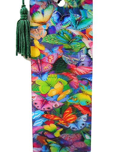 Lesezeichen Schmetterling 15,5 cm Design Bookmarks mit Kordel Deko GG 5293