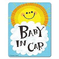 太陽 おひさま【BABY IN CAR】車マグネットステッカー ベビーインカー