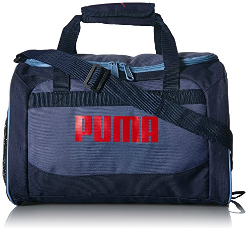 PUMA Boys' Big Evercat Transformation JR Duffel, navy/red, OS
