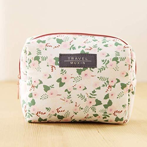 BOENTA Portemonnaie Picknickbox Frucht-Plüsch-Geldbörse Silikon-Kabelschutz Laser-Datenkabelclip Retro Canvas-Geldbörse Süße Mini-Geldbörse Blumen-Stift-Box beige