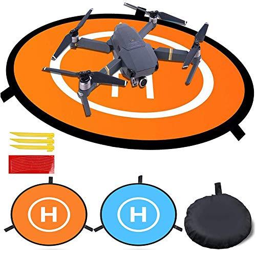 GHKY Pista atterraggio Drone Landing Pad Universale Impermeabile 75 cm/30 pollici Cuscinetti per RC Droni Elicottero, PVB Droni, Dji Mavic Pro Phantom 2/3/4/Pro, Antel Robotic, 3DR Solo