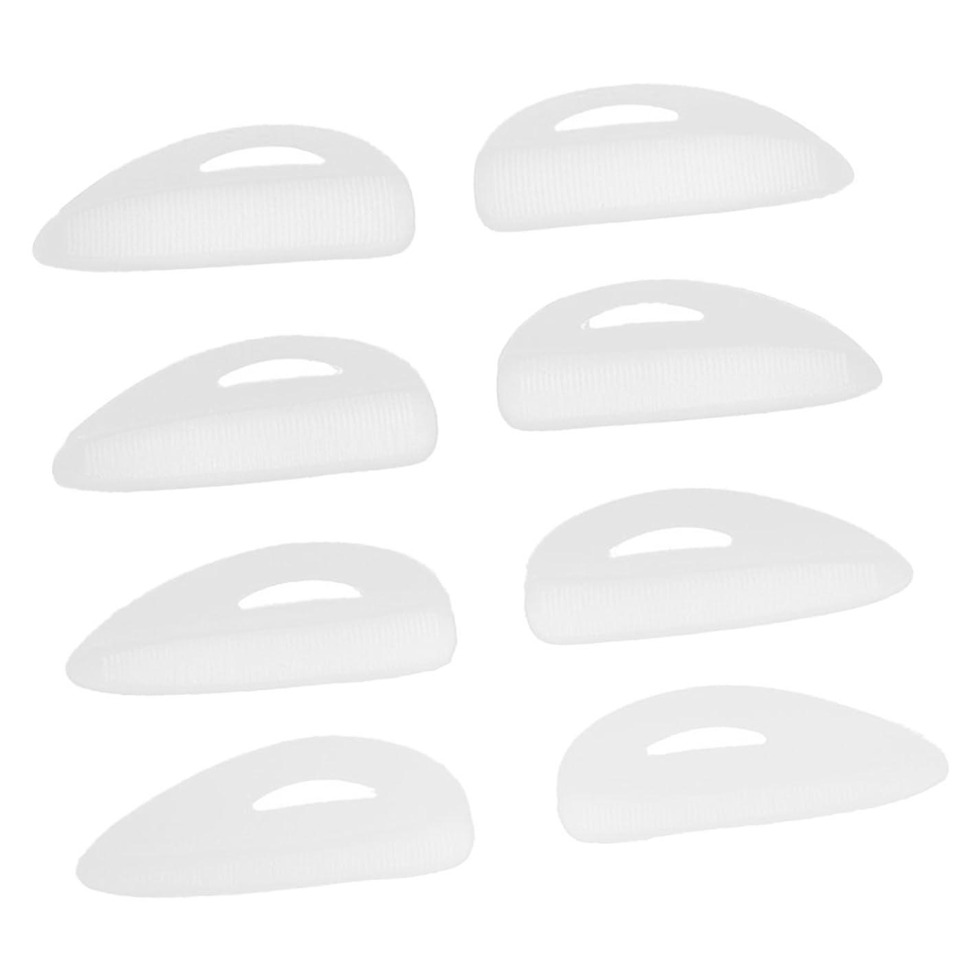レッスン床を掃除する上下する4ペア つけまつげパッド アイラッシュ まつげ カーラーパッド 再利用可 シリコン エクステンションシールド 化粧ツール