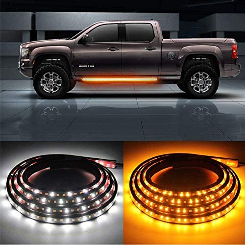 OPL5 2Pcs 70 inch Truck LED Running Board Lights Sequential Amber Side Marker Lights Emergency product image