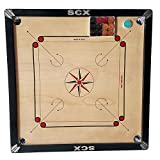 SHREYAS Carrom Board Game Regular Medium Size ( 26 X 26 INCHES Outer ) ( 23 X 23 INCHES Inner ) 1.5 Boarder Free Coin Set & Sticker ROT-5Y6