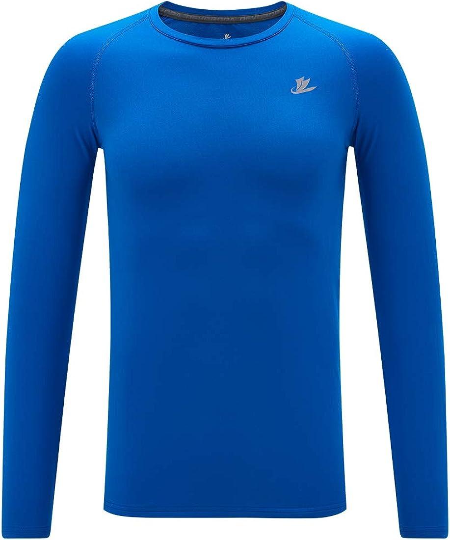 DEVOROPA Youth Boys Compression Thermal Shirt Long Sleeve Fleece Baselayer Soccer Baseball Undershirt