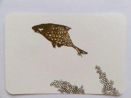 Unikat Postkarte Karpfen A6