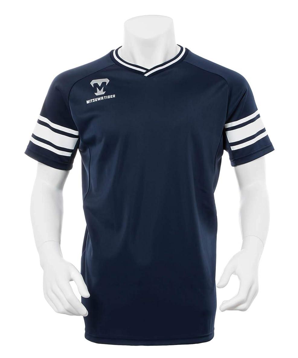 かご前置詞トークミツワタイガー 野球 アンダーシャツ 半袖 メンズ TEEシャツ ティー BSMTKS-077 NVY S