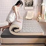 LIKE99 Colchón de látex colchón de Espuma viscoelástica híbrido Suave para Dormir Colchón Transpirable de Tatami Grueso...