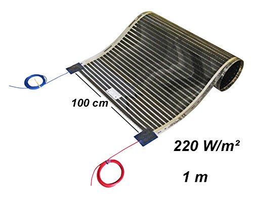 Calorique Chauffage au sol 50cm 220W m/² Set 1m/² Solution de chauffage efficace et d/économie d/énergie de la maison