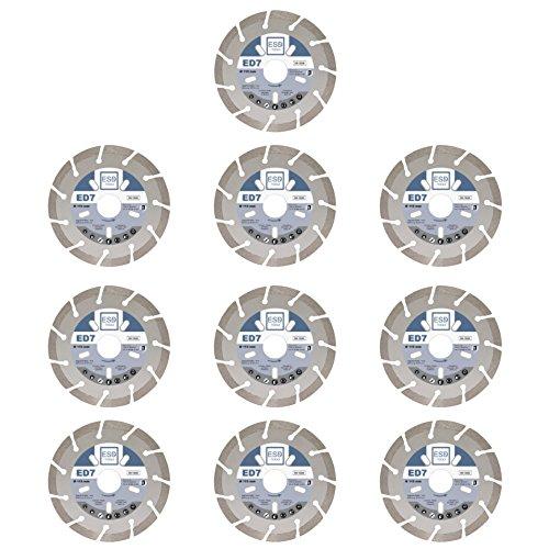 10X Diamant-Trennscheibe ED7 Ø 115 mm- 22,23 mm Bohrung Diamanttrennscheibe für Bordstein, Beton