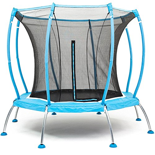 SkyBound Atmos 8 ft Trampoline with Full Enclosure Net System - Black