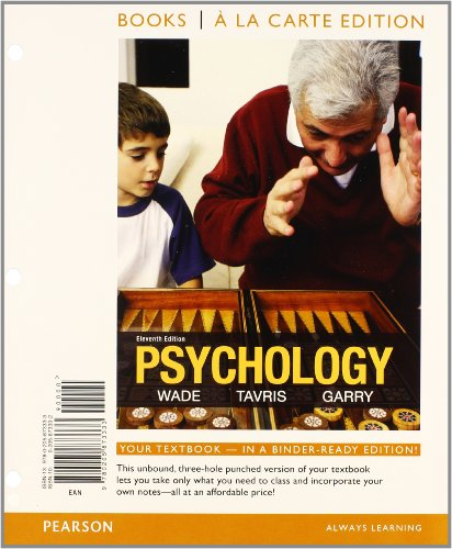 Psychology, Books a la Carte Plus NEW MyPsychLab with eText -- Access Card Package (11th Edition)