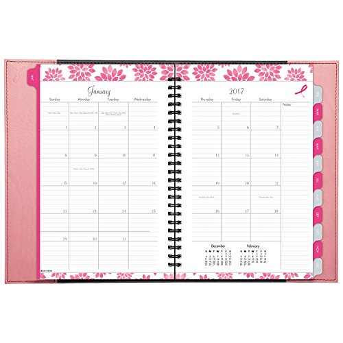 "Day-Timer Weekly / Monthly Appointment Book / Planner 2017, 5-1/2 x 8-1/2"", Pink Ribbon (88864) Photo #2"
