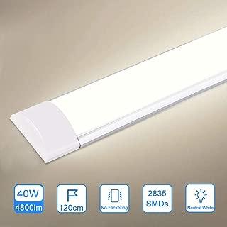 40W LED Feuchtraumleuchte 120CM Energieklasse A++ bapro LED R/öhre 4000LM Leuchte 4000K Werkstattlampe 180/°Abstrahlwinkel Deckenleuchte f/ür K/üche Badzimmer Wohnzimmer und Warenhaus