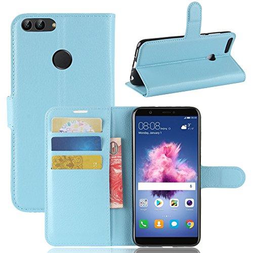 Cover Huawei P smart, moda Custodia portafoglio,GOGME[serie portafogli] Bella cover in ecopelle di ottima qualità morbida,Una bella custodia , finta...