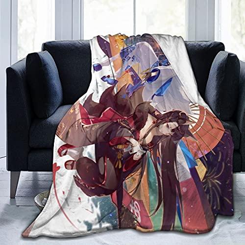 A-z-ur La-ne A-ka-gi Ka-ga - Manta para cama y sofá mantas para adultos, suave y mullida manta de franela de 150 x 100 cm