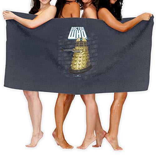 Dalek Dr. Who'S - Toalla de baño minimalista de arte de secado rápido