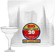Amscan Plastic Margarita Glasses Supply