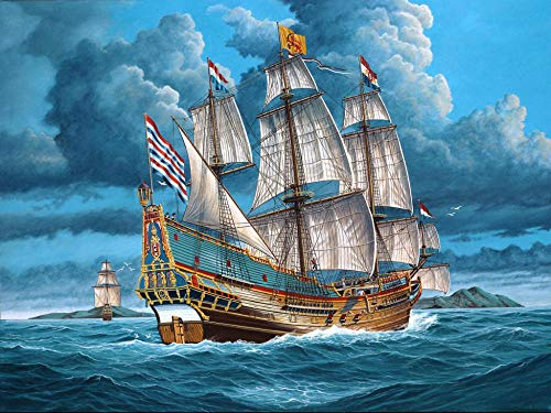 XJLAC DIY 5D Full Drill Diamond Painting Kits,Paint with Circular Diamonds by Numbers,Diamond Art for Home Wall Decor Gift Sailing Ship Ocean