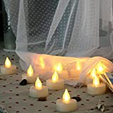 6 Flameless Tealight Candles with Remote and Timer Flickering Battery Operated Electric LED Tea Lights Halloween Jack-O-Lantern Pumpkin Wedding Centerpieces Christmas Party Decorations Batteries Incl.