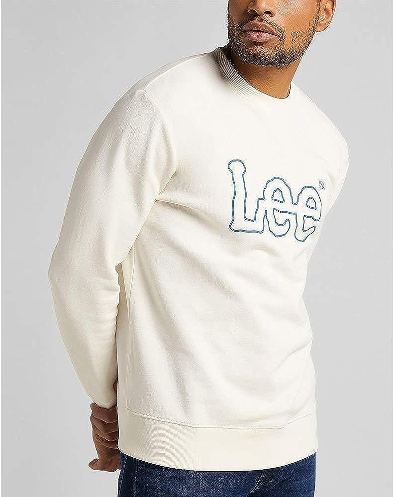 Lee Basic Crew Logo Sudadera para Hombre