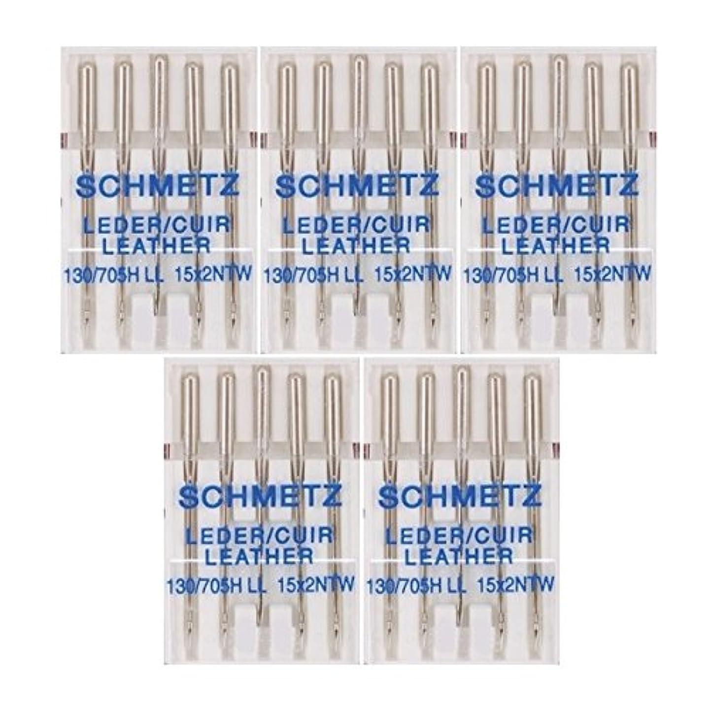 25 Schmetz Leather Sewing Machine Needles 130/705H LL 15x2NTW Size 90/14