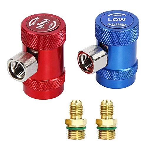 2 Stücke Schnellkupplungen Stecker Hoch- / Niederdruck Adapter Schnellkupplungsadapter Für R1234YF Klimaanlage Kühlsysteme Fluorid