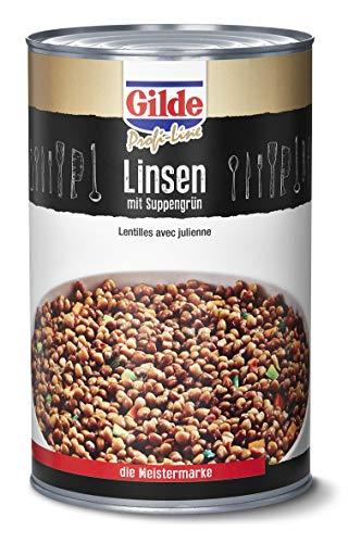 Gilde Linsen mit Suppengrün (12x850 ml) Dosen