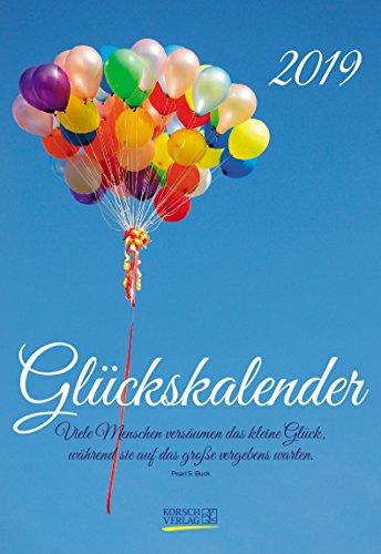 Glückskalender (2-Wo.) 237219 2019: Lebensfreude-Kalender - 2 Wochen 1 Seite - Ferientermine - Format: 16,5 x 24 cm