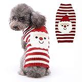 PETCARE Jersey para perro de Navidad con cuello alto, diseño navideño, tejido de punto, para cachorros de perro, fiesta, regalo para perro