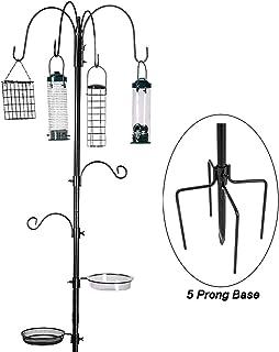 Bird Feeding Station Kit Bird Feeder Pole Wild Bird Feeder Hanging Kit Planter Hanger Multi Feeder Hanging with Metal Suet...