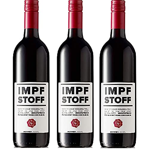 IMPFSTOFF Wein Österreichischer Zweigelt 0,75 Liter Rotwein 12,5% Vol. (3 x 0,75l)