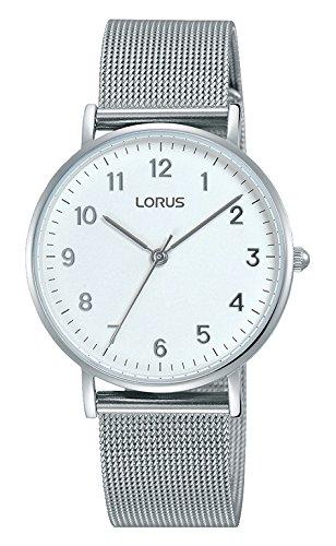Lorus Damen Analog Quarz Uhr mit Edelstahl Armband RH823CX9