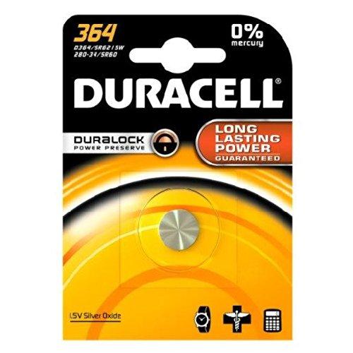 Duracell 364 / 363 Knopfzelle, Silberoxid, 1 Stück