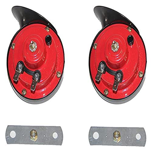 LinXIPU Cuerno Fuerte 2 Piezas de camión Super 300 DB y Tren Cuerno 12V Cuerno de Caracol eléctrico para Motocicletas para Coches, Camiones, Motos