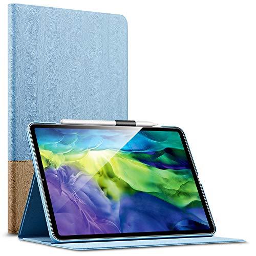 """Capa de livro ESR Urban Premium para iPad Pro 11 2020 e 2018 (compatível com caneta de carregamento sem fio 2), design de capa de livro, suporte de exibição multi-ângulo, desligamento automático para iPad 11 """", céu"""