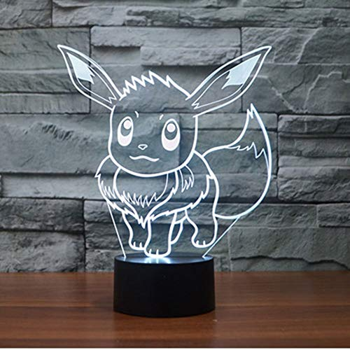 WoloShop Pokémon Eevee LED-Lampe, Farbwechselndes USB-Nachtlicht