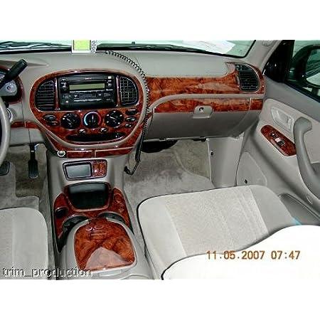 Amazon Com Toyota Tundra Interior Burl Wood Dash Trim Kit Set 2003 2004 2005 2006 Automotive