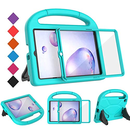 BMOUO Kids Case for Samsung Galaxy Tab A 8.4 2020 SM-T307, Tab A 8.4 Case with Built-in Screen Protector, Shockproof Light Weight Handle Stand Kids Case for Galaxy Tab A 8.4 inch Tablet - Turquoise