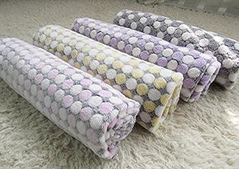 topdo tapis Couverture pour animaux de compagnie avec tapis pour chiens niche Chat Blanket automne et hiver Couverture CHAUDE point d'onde peluche 1pièce S-60*40cm rose