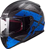 1035324263XL - LS2 FF353 Rapid Deadbolt Motorcycle Helmet 3XL Matt Black Blue