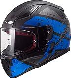 LS2 Casque moto FF353 RAPID DEADBOLT MATT NOIR Bleu, Noir/Bleu, M