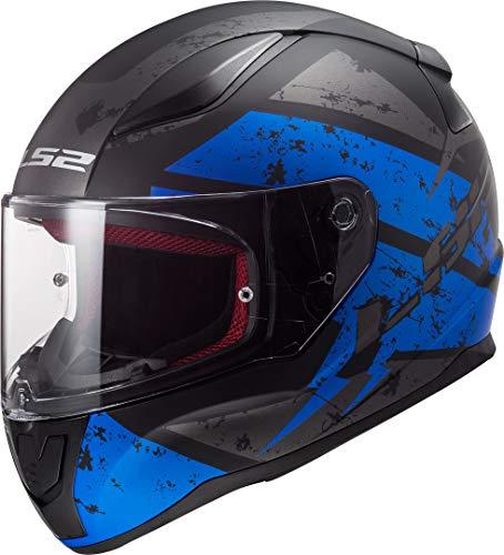 LS2 NC Casco per Moto, Hombre, Negro/Azul, XS